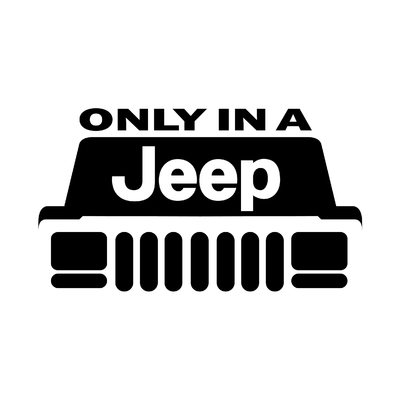 STICKERS ONLY IN A JEEP