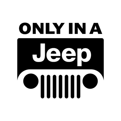 STICKERS ONLY IN A JEEP LOGO