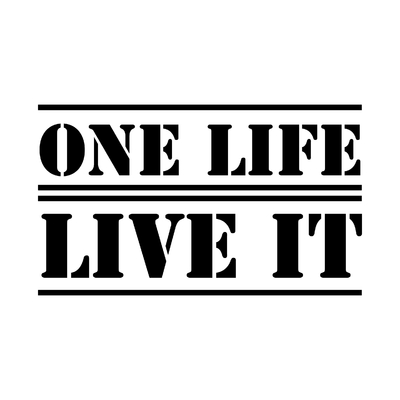 STICKERS LAND ROVER ONE LIFE LIVE IT LOGO