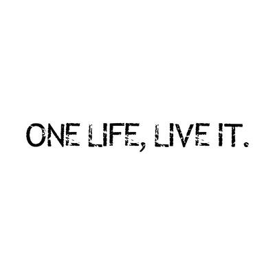 STICKERS ONE LIFE LIVE IT LAND ROVER