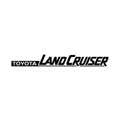 STICKERS TOYOTA LAND CRUISER