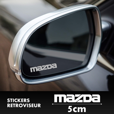 STICKERS RETROVISEUR MAZDA