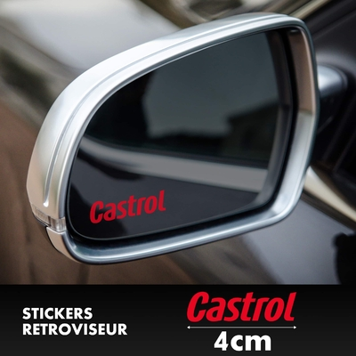STICKERS RETROVISEUR CASTROL