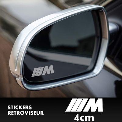 STICKERS RETROVISEUR BMW M SERIES LOGO