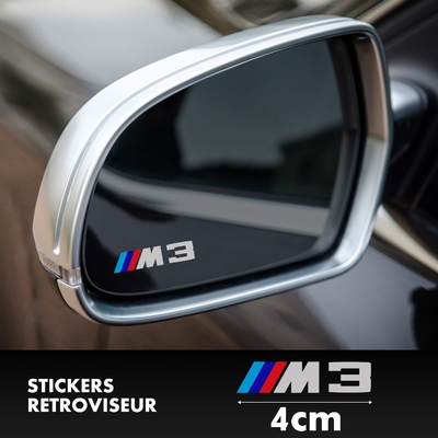 STICKERS RETROVISEUR BMW M3