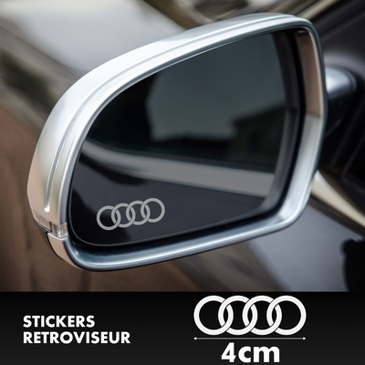 STICKERS RETROVISEUR AUDI LOGO 2