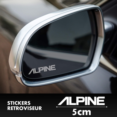 STICKERS RETROVISEUR ALPINE