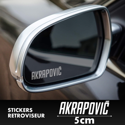 STICKERS RETROVISEUR AKRAPOVIC