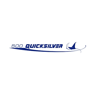 STICKERS QUICKSILVER 500 LOGO GAUCHE