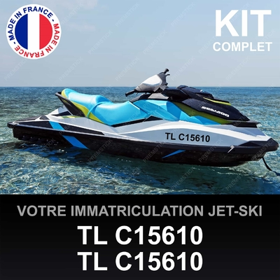 STICKERS IMMATRICULATION JET SKI