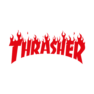 STICKERS TRASHER LOGO