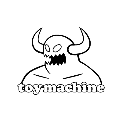 STICKERS TOY MACHINE LOGO