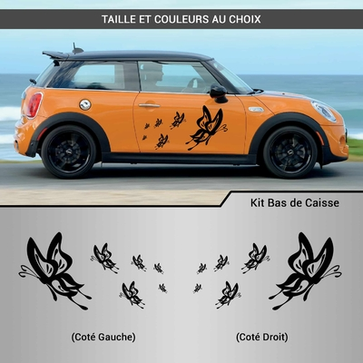 KIT STICKERS DECO VOITURE PAPILLONS
