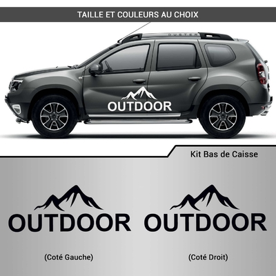 KIT STICKERS BAS DE CAISSE OUTDOOR DACIA 4X4