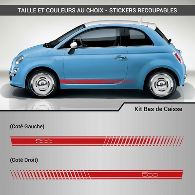 KIT STICKERS BAS DE CAISSE FIAT 500