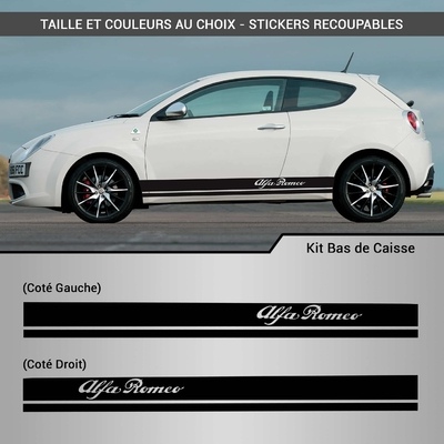 KIT STICKERS BAS DE CAISSE ALFA ROMEO