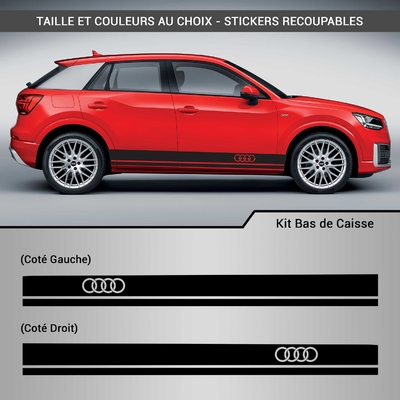 KIT STICKERS BAS DE CAISSE AUDI