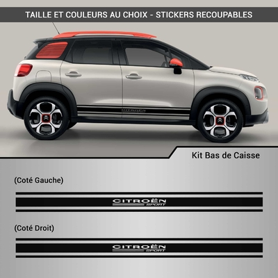KIT STICKERS BAS DE CAISSE CITROEN SPORT