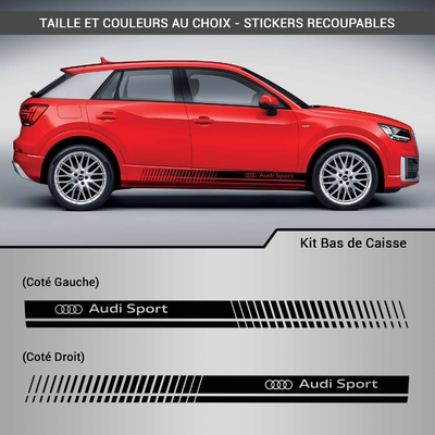 KIT STICKERS BAS DE CAISSE AUDI SPORT
