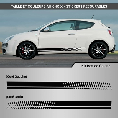 KIT STICKERS BAS DE CAISSE BANDES RACING