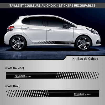 KIT STICKERS BAS DE CAISSE PEUGEOT