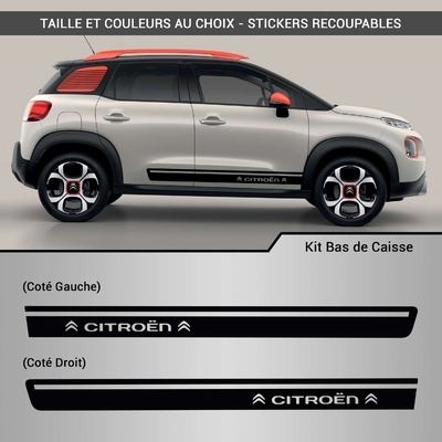 KIT STICKERS BAS DE CAISSE CITROEN LOGO