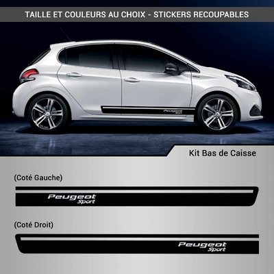 KIT STICKERS BAS DE CAISSE PEUGEOT SPORT RACING