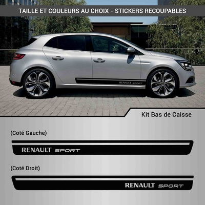 KIT STICKERS BAS DE CAISSE RENAULT SPORT RACING