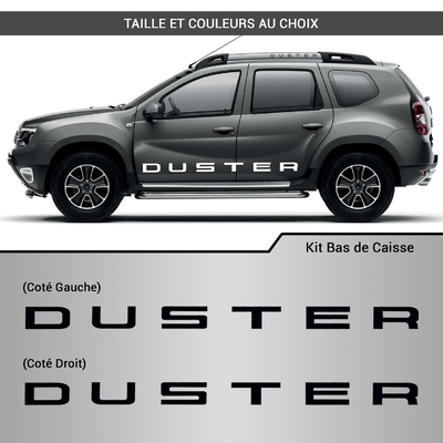 KIT STICKERS BAS DE CAISSE DUSTER DACIA