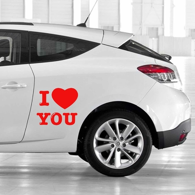 STICKERS I LOVE YOU DECO VOITURE