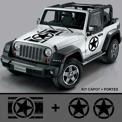 KIT STICKERS JEEP VINTAGE