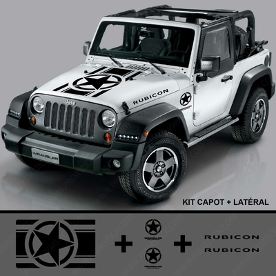 KIT STICKERS JEEP RUBICON