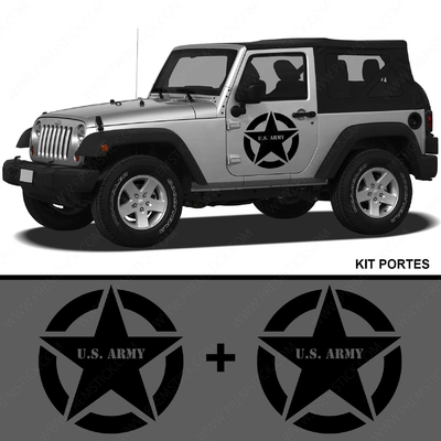 KIT STICKERS PORTIERE JEEP US ARMY