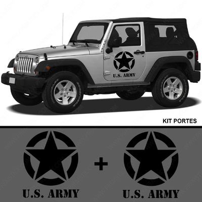 KIT STICKERS PORTIERE JEEP ARMY