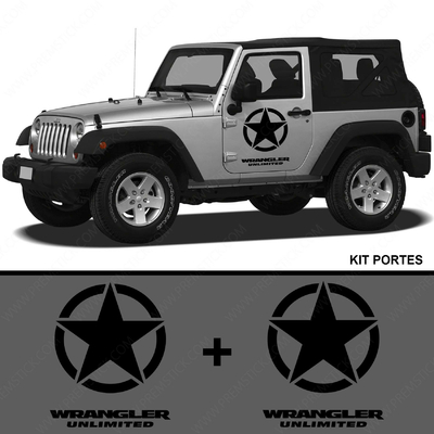 KIT STICKERS PORTIERE JEEP WRANGLER UNLIMITED