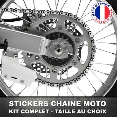 Stickers Chaine Moto Argent