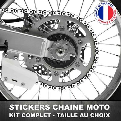 Stickers Chaine Moto Blanc