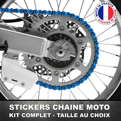 Stickers Chaine Moto Bleu Clair