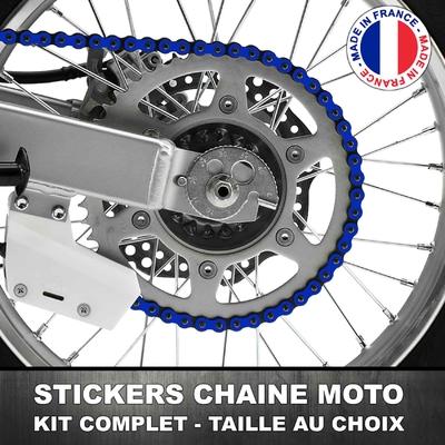 Stickers Chaine Moto Bleu