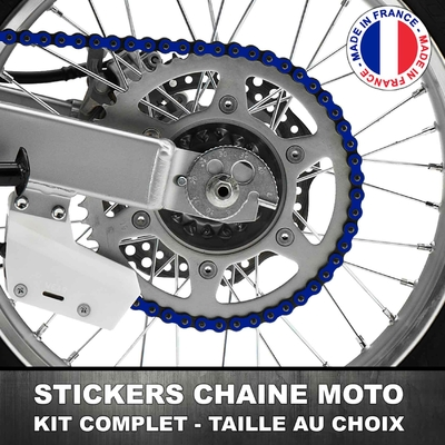 Stickers Chaine Moto Bleu Royal