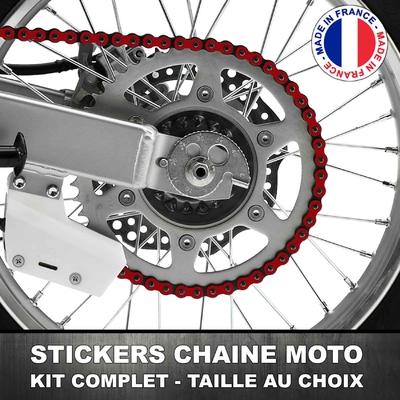 Stickers Chaine Moto Bordeaux