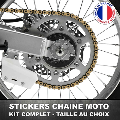 Stickers Chaine Moto Brun Clair