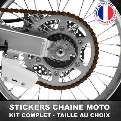 Stickers Chaine Moto Chocolat