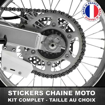 Stickers Chaine Moto Gris Foncé