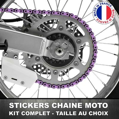 Stickers Chaine Moto Lilas