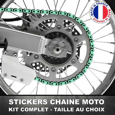 Stickers Chaine Moto Menthe
