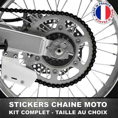 Stickers Chaine Moto Noir