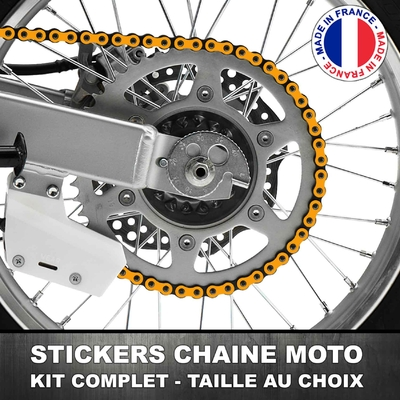 Stickers Chaine Moto Orange Clair