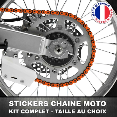 Stickers Chaine Moto Orange