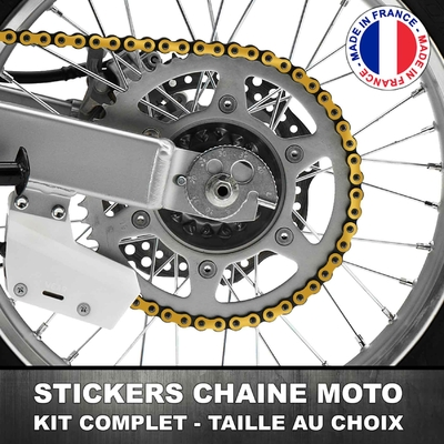 Stickers Chaine Moto Or / Doré